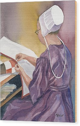 Lydia Wood Print by Marsha Elliott