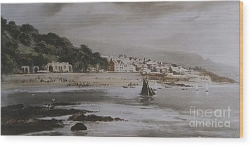 Wood Print featuring the photograph Lyme Regis by Gary Bridger
