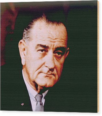 Lyndon B. Johnson 1908-1972, U.s Wood Print by Everett