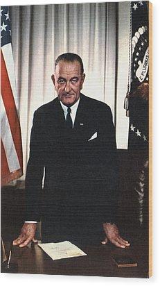 Lyndon Johnson 1908-1972, U.s Wood Print by Everett