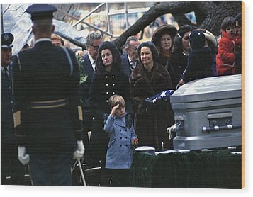 Lyndon Johnson Funeral. Lyn Nugent Wood Print by Everett