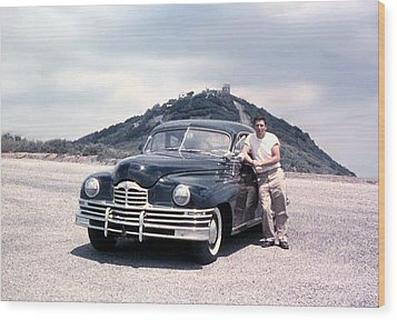 Lynn And His Packard Wood Print by Lynn Bawden