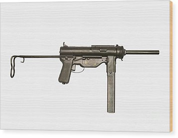 M3a1 Submachine Gun, 45 Caliber Wood Print by Andrew Chittock