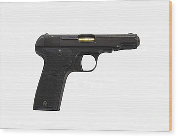 Mab Model D French Police Issue Pistol Wood Print by Andrew Chittock