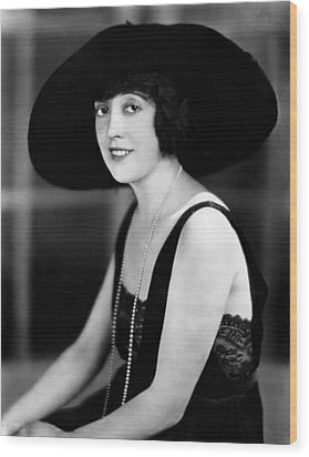 Mabel Normand, 1921 Wood Print by Everett