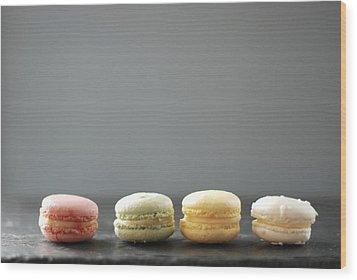Macarons Wood Print by Shawna Lemay