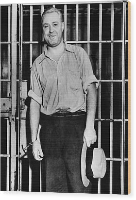 Machine Gun Kelly, Handcuffed To Cell Wood Print by Everett