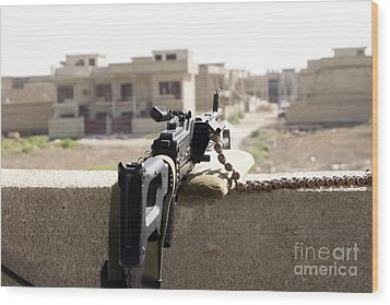 Machine Gun Post At A Prison Wood Print by Terry Moore