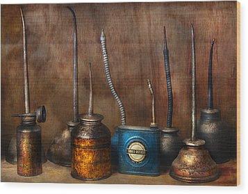 Machinist - Tools - Lubrication Dispensers  Wood Print by Mike Savad