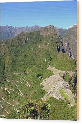 Machu Picchu Wood Print by Cute Kitten Images