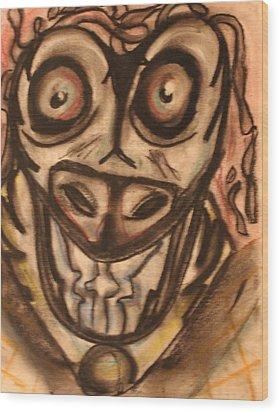 Mad Cow Disease Wood Print by Shadrach Ensor