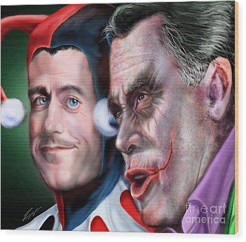 Mad Men Series  4 Of 6 - Romney And Ryan Wood Print by Reggie Duffie