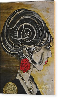 Madame D. Eternal's Dance Wood Print by Sandro Ramani