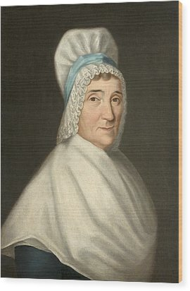 Madame Gabriel Cotte Wood Print by Louis Cretien de Heer