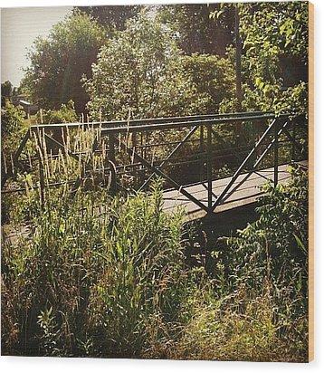 Maddox Bridge Wood Print by Jeff Guilkey