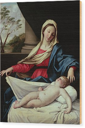 Madonna And Child  Wood Print by II Sassoferrato