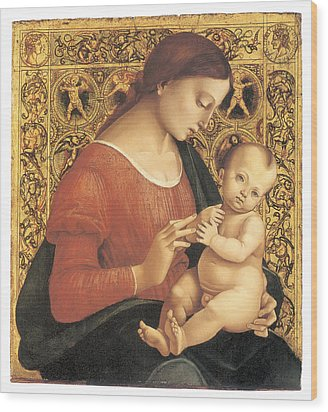 Madonna And Child Wood Print by Luca Signorelli
