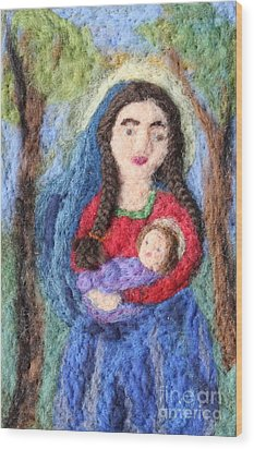 Madonna And Child Wood Print by Nicole Besack