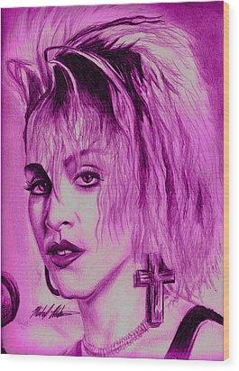 Madonna Wood Print by Michael Mestas