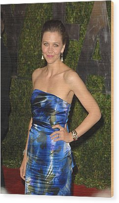 Maggie Gyllenhaal Wearing A Dries Van Wood Print by Everett