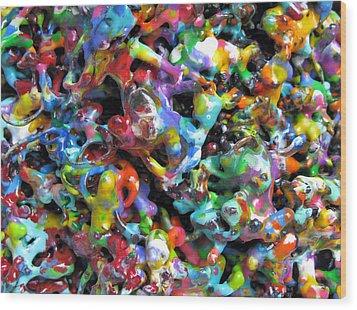 Magic  Colors  Sculpture  Nineteen  Ninety  Nine Wood Print by Carl Deaville