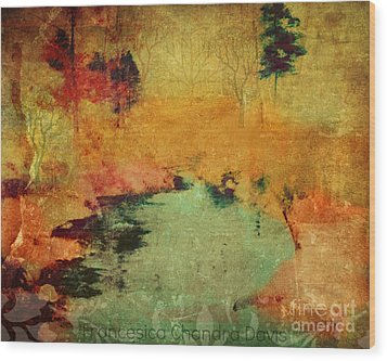 Magic In Autumn Mist Wood Print by Sacred  Muse