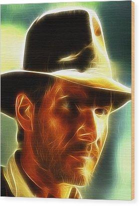 Magical Indiana Jones Wood Print by Paul Van Scott