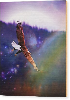 Wood Print featuring the digital art Magical Moment 2 by Carrie OBrien Sibley