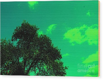 Magical Sky Wood Print by Michael Grubb