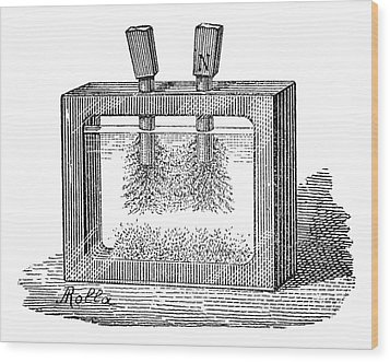 Magnetic Field Experiment, 19th Century Wood Print by