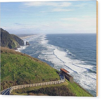 Magnificent Oregon Coast Wood Print by Will Borden