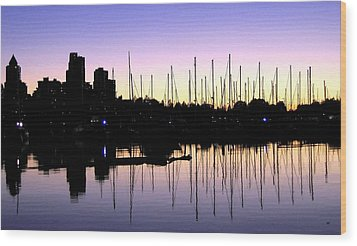 Magnificent Vancouver Sunset Wood Print by Will Borden
