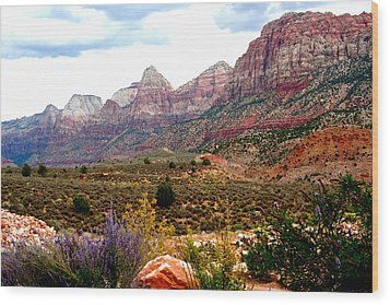Magnificent Vista Of Zion Wood Print