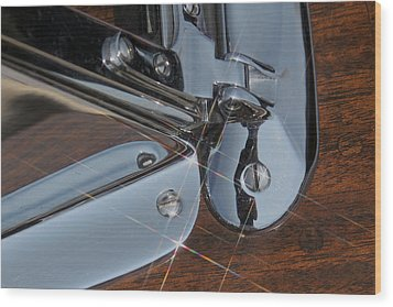 Mahogany And Chrome Wood Print by Steven Lapkin