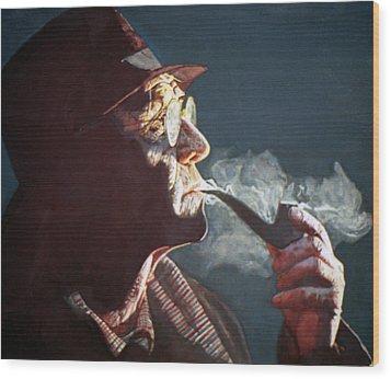 Maigret Wood Print by Michael Haslam