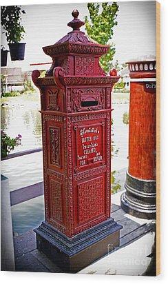 Mailbox Wood Print by Thanh Tran