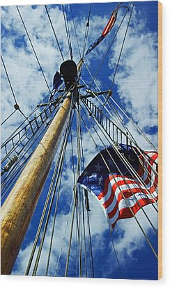 Wood Print featuring the photograph Main Rigging by Randall  Cogle