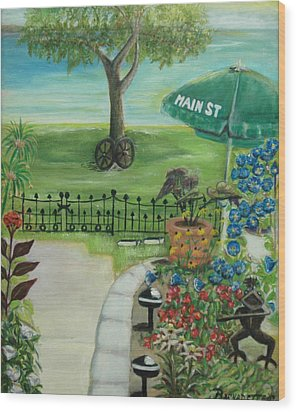 Main Street Wood Print by Bernadette Krupa