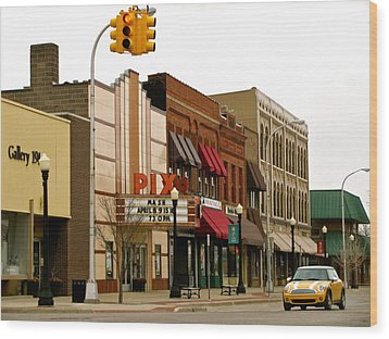 Main Street Wood Print