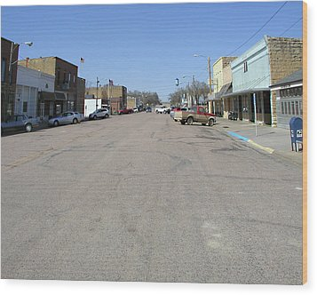 Main Street Wood Print by Steve Sperry