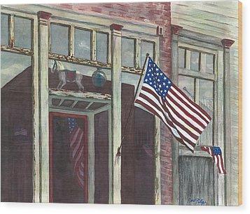 Main Street Usa Wood Print by Rosie Phillips
