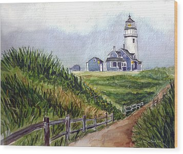 Wood Print featuring the painting Maine Light by Clara Sue Beym