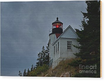 Maine Lighthouse Wood Print by John Greim