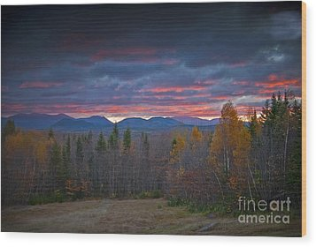 Wood Print featuring the photograph Moosehead Sunset by Alana Ranney
