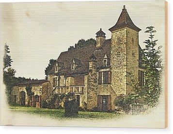 Maison De Martelet Wood Print by Paul Topp