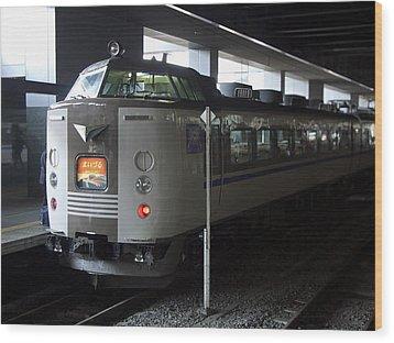Maizuru Electric Train - Kyoto Japan Wood Print by Daniel Hagerman