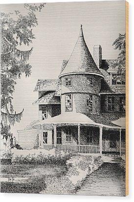Majestic Place In Kensington Maryland Wood Print by Toni Tiu