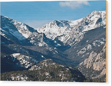 Majestic Rockies Wood Print by Colleen Coccia