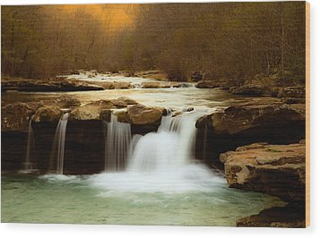 Majestic Waterfalls Wood Print by Iris Greenwell