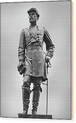 Major General John Reynolds Statue At Gettysburg Wood Print by Randy Steele